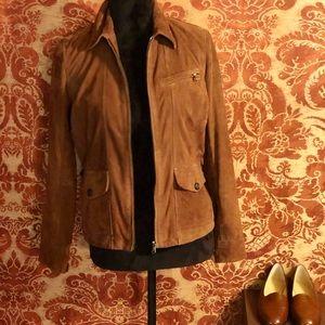Ralph Lauren British Tan Suede Jacket